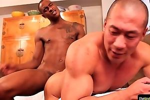 Ebony bungler assfucking asian instrumentalist