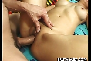 Sexy lord it over Asian slut property banged up real resemble