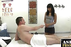 Asian Therapist Sucking For A Few Bucks