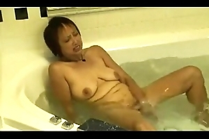 Horny Asian Granny Fucks her Cunt in the Sexy Tube