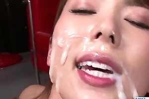 Yui Hatano looks pleased with so many dicks around their way
