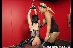 Bound bitch is spanked, clamped plus bdsm microwavable
