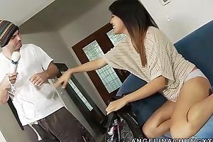 Hideous Asian Bug Angelina Chung Gets Screwed Hard