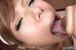 Farcical nurse Aya gives an astonishing blowjob