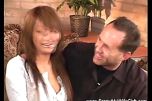 Interracial Swinger Feign With Oriental MILF