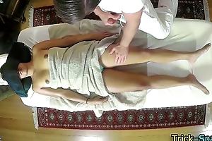 Hot asian spoil massage