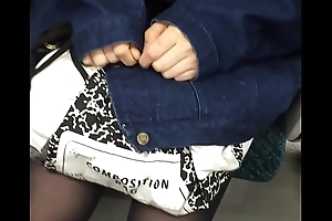 pantyhose japanese train 4
