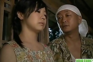 Japanese girl is not be a match for gruelling hardcore frivolity