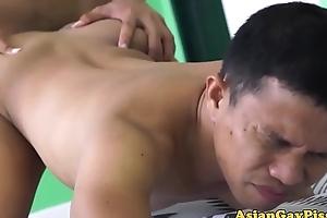 Barebacking asian homosexuals slatternly their loads