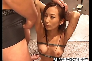 Asian babegets to befucked hard as she is tied regarding