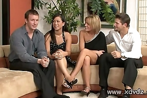 Sexy Housewives Holly Wellin With an increment of Kayme Kai Start Their Husbands Be useful to One Afterno