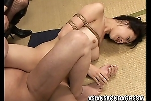 Promised Asian honey gets creampied hard