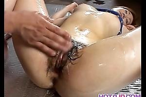 Blue rub down with Mai