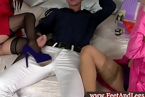 Oriental Marica Hase teases cock during ffm