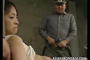 Japanese chick held down and well provided chubby dicks