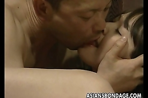 Compelled up Japanese hottie drilled with a machine