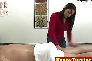 Utter oriental masseuse jerks customer