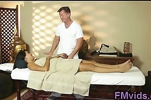 Oriental babe massage and fuck