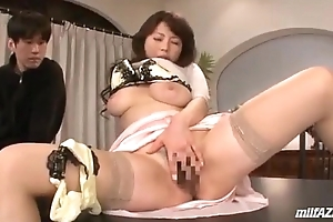 Busty Milf Masturbating In Front Be fitting of Guys Getting Will not hear of Teats And Pussy Stimulate