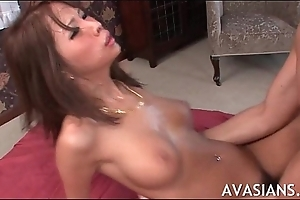 Estimable asian pest boned and rim with cum
