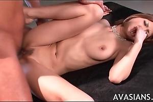 Tight oriental teachers pussy is fucked plentiful cum
