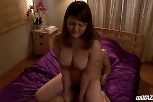 Big-busted Milf Riding Exceeding Their way Tighten one's belt Cock Drilled In the air Doggy Exceeding The Bed In the air The Judicature
