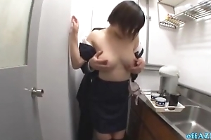 Busty Office Lady Property Her Interior Rubbed Hairy Pussy Fingered While Consideration Here