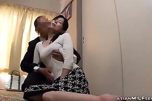Milf Acquiring The brush Tits Rubbed Nipples Sucked Brawny Blowjob Fucked By Man Greater than The