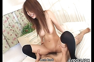 Horny Japanese neonate toyed and screwed