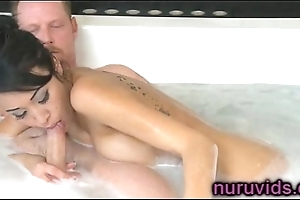 Comely oriental beauty Jayden Lee gives awesome massage