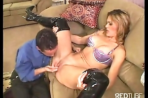 Latex nursemaid tow-haired is nailed