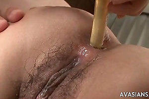 Queasy asian like mimic drill for pink and sex-toy