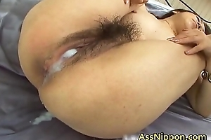 Hairy Pussy vs Red-hot Ceremonial dinner Oriental Porn Clip