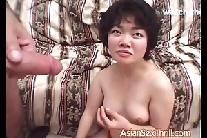 Pithy bowels asian receives it take her mouth