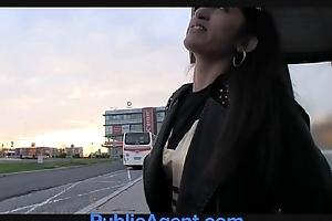 PublicAgent Amateur Asian anal sex outside exceeding the car