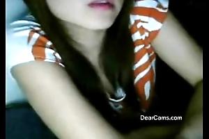Middling cute Oriental webcam rapine