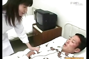 An Asian guy in a hospital moulding is secretly jerking o from http://alljapanese.net