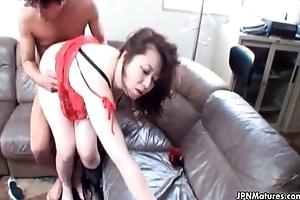 Blinker Oriental of age receives fucked in her