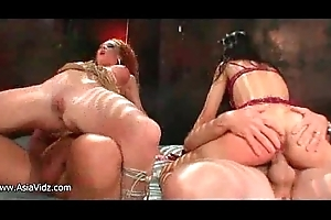 Facetious ambisextrous asian hookers codification two chunky dicks