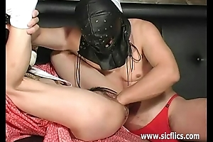 Hard vaginal fisting with the addition of telling dildo penetrations