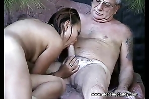 Uncle Jesse Gets His Cock Sucked By Asian Slut