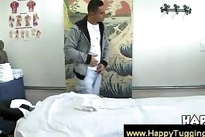 Oriental masseuse ensures the boost ending yon a blowjob