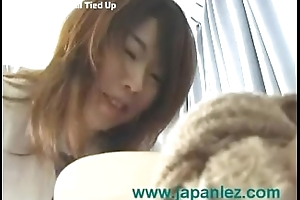 Bus Girl is Tied Bound Up and Molested Japanese Lesbian