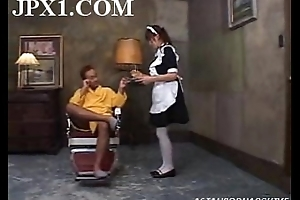 Fingering A Horny Maid