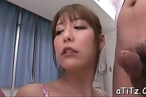 Scalding chap gives wet carpet munch to the fore fucking busty asian