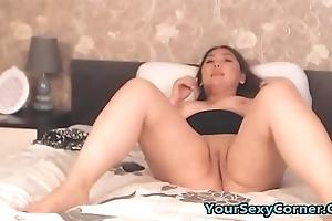 My Chubby Oriental Stepsister Masturbating To Porn