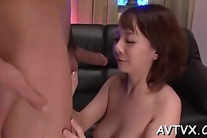 Enjoyable asian spruce surrenders say no to twat of some lusty toying