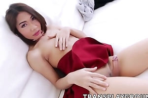 Surprising Asian tranny barebacked by a well-known spurious cock