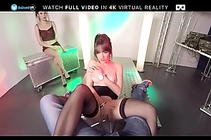 BaDoink VR Striptease Audition With Miyuki Lady And Naty Mellow VR Porn