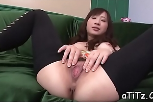 Cute asian with sexy tits stimulates with naughty oral sex